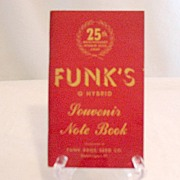 Vintage Collectible Funks Seed Corn 25th Anniversary Souvenir Note Book~UNUSED~1941