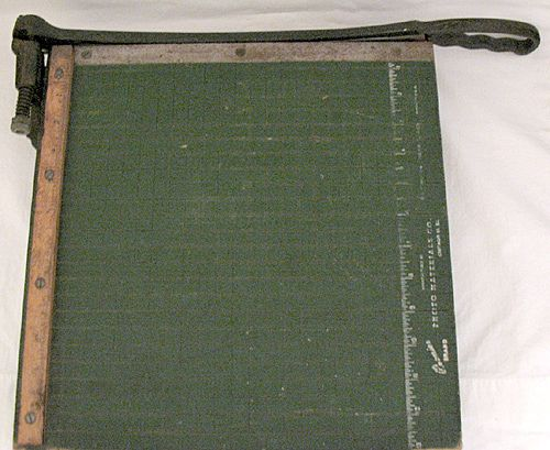 Vintage Collectible Guillotine Paper Cutter By Photo Materials Co. Chicago 10,Il 1930-50s
