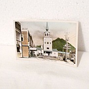 Vintage Collectible Real Photo The Old Russian Cathedral Postcard Sitka Alaska  Unused 1930s