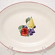 20% OFF Old Vintage Collectible Edwin M. Knowles Utility Ware Platter With Fruit Motif 1940s