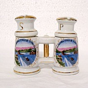 Vintage Collectible S & P Canadian Souvenir Shakers Designed to Look Like Binoculars 1930-50s Mint
