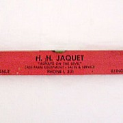 Vintage Collectible Advertising Level For Case Farm Equipment by H.H. Jaquet of Walnut Illinois 1950s
