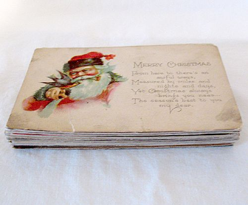 Vintage Collectible 29 Postcards Representing Christmas New Years Easter Thanksgiving 1908-1923