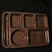 Vintage Collectible Retro Texas Ware Confetti Design Food/Serving Tray in Hard Plastic Mint Unused 1950s Condition
