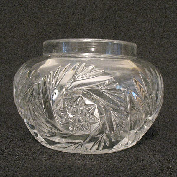 Vintage Collectible Heisey Glass Vanity Hair Receiver/Jar Sunburst Pattern 1903-1912 Mint