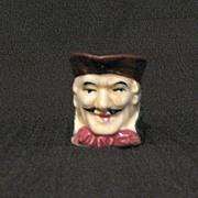 Vintage Porcelain Toby Character Creamer Made in Japan 1950s