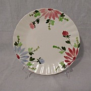 Vintage Collectible Southern Pottery Blue Ridge Plate Mardi Gras Pattern On Colonial Plate Design 1940-57 MINT