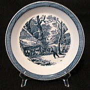 Vintage Collectible Currier & Ives 10 Inch Pie Baker 1950s-60s