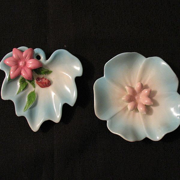 Vintage Collectible Ohio Porcelain Co Semi-Porcelain Ashtray Set 1940-56 Mint Unused Condition