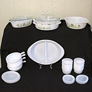 Vintage Collectible 31 Piece Ovenware Set~McKee Glasbake~Primrose Dream Pattern~Original Box~UNUSED~ Mint