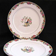"Vintage Collectible (2) Pope Gosser 10"" Dinner Plates Pattern POP 214 1920s Mint Unused Condition"