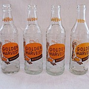 Vintage Collectible (3) 10oz. Harvest Soda Bottles Hawes Bottling Works Freeport, Illinois 1950-60s Excellent Condition
