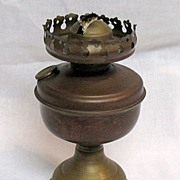 Vintage Collectible Brass Kerosene Lamp Made In Austria Early 1900s Excellent Condition