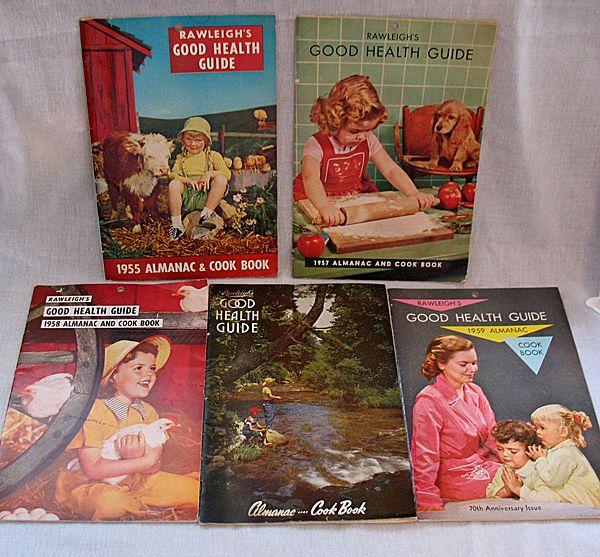 Vintage Collectible (5) Rawleigh's Advertising Almanac/Cook Book/Health Guide 1950s Very Good Condition