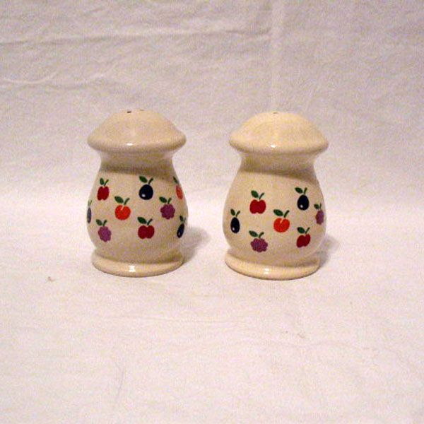 Vintage New Avenues Orchard Motif Ceramic S & Ps 1984 Mint