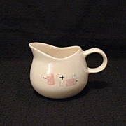 Vintage Collectible Retro Metlox Gravy Boat With Tickle Piink Pattern 1950s Excellent Mint Condition.