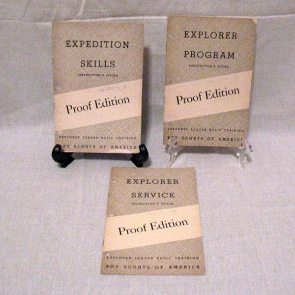 (3) Vintage Boy Scouts Explorer Instructor Guide Pamphlets Proof Editions 1950 Very Good Condition
