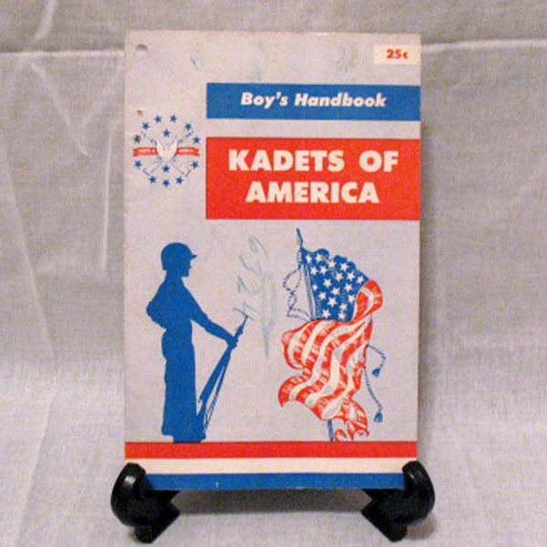Vintage Collectible Kadets Of America Boy's Handbook 1956 Very Good Condition