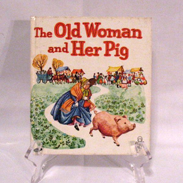 Vintage Whitman Tell-a-Tales Book The Old Woman & Her Pig Very Good Condition 1964