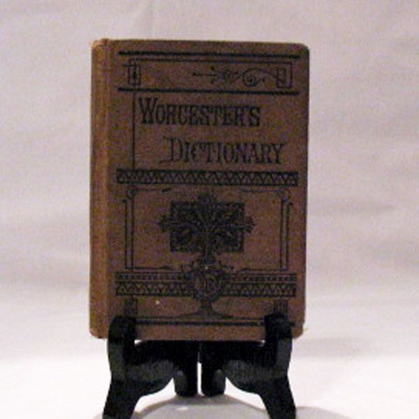 20% OFF Vintage  Worcester's Pocket Dictionary Good Condition 1877