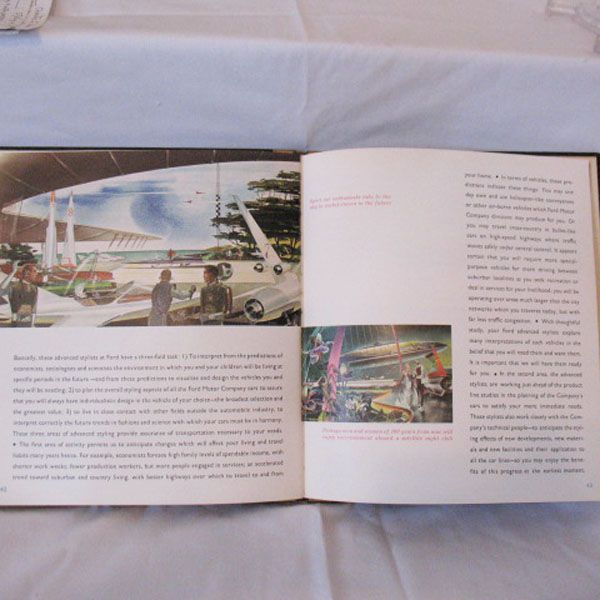10 off vintage collectible book styling at ford motor for Ford motor company description