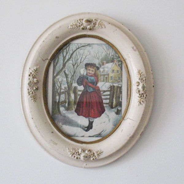 very old vintage collectible 2 oval picture frames late 1800s very from teesantiqueorchard on ruby lane