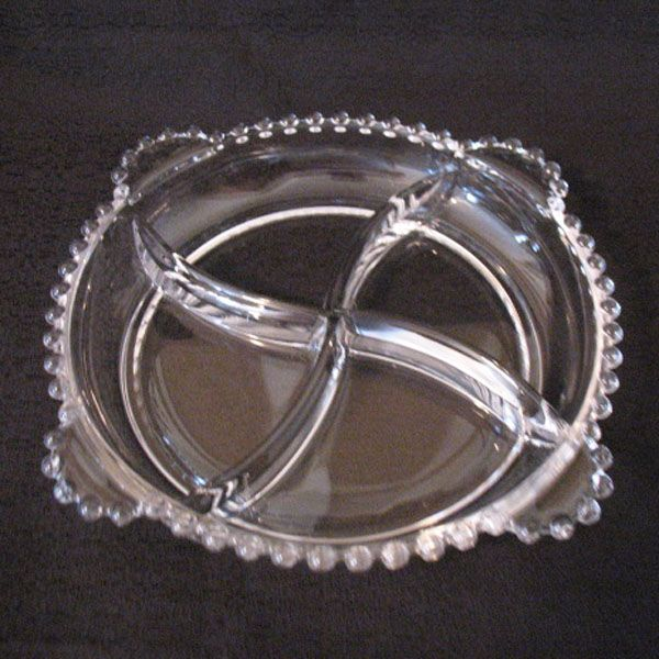 "Vintage Imperial Candlewick 8 1/2"" Tray Four Sections Four Tab Handles Mint 1936-1984 Like New Condition"