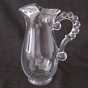 Vintage Imperial Candlewick Cocktail/Martini 40 Oz Jug with Beaded Handle 1936-84