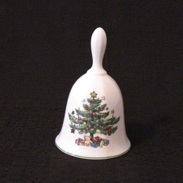 Vintage Collectible Nikko Classic Collection Christmas Bell Christmas Tree Motif Excellent Condition