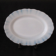 "Vintage American Sweetheart 13"" Oval Monax Platter by MacBeth-Evans 1930-36 Mint Condition"