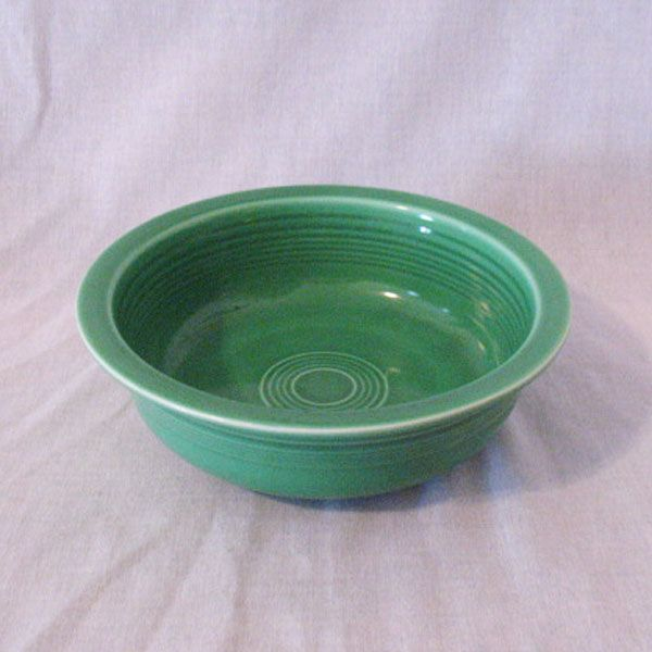 Vintage Homer Laughlin Green Fiesta Nappy Bowl 8 1/2 Inches 1936-69 Mint Condition