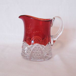 20 % OFF Vintage Ruby Flashed Small Pitcher/Creamer 1910