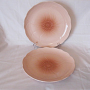 (2) Vintage Mikasa 11 ¼ Inch Dinner Plates Spring FT 200 Amaryllis Pattern 1982-88 Like New Condition