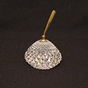 Vintage Oneida Lead Crystal Paperweight with Pen Holder Having A Saw Tooth Design Still in Excellent Condition
