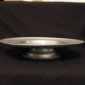 Vintage Hand Wrought Aluminum Lazy Susan Tray by  Cromwell 1950-60s Excellent Condition