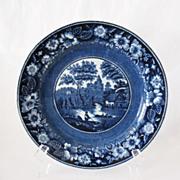 Vintage Collectible  Petrus Regout Maastricht 9 Inch Flo Blue Charger Plate 1920-30s Excellent Condition