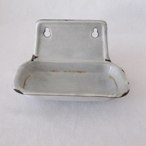 Vintage Graniteware Soap Holder 1920-40s Excellent Vintage Condition