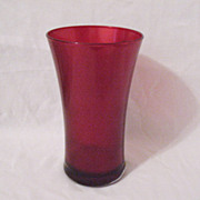 Vintage Ruby Flashed Red Vase 1960s Excellent Condition