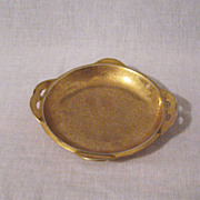 Vintage RS Germany Prussian Gold Painted Nut/Mint Dish Handles 1910-1930s Excellent Condition
