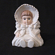 Young Girl Porcelain Planter 1960-70s No Mark Like New Condition