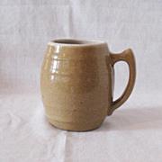 Nice Vintage UHL Tan Speckled Pottery Mug #16 Huntingburg Indiana 1908-1944 Very Good Condition