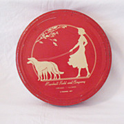 Vintage Marshall Field & Company 3 Pound Art Deco Motif Candy Tin 1920-30s Very Good Condition
