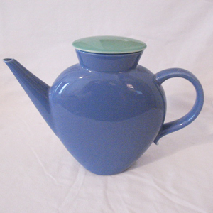 Vintage Collectible Lindt-Stymeist Colorways Blue Oval Tea Pot with Lid Mint Condition