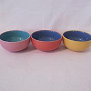 Vintage Collectible Lindt-Stymeist  (3) Fruit/Dessert Bowls Colorways Pattern Mint