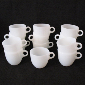 30% OFF Vintage Fire-King (8) St. Denis Cups 1946-1958 Like New Condition