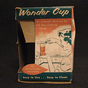 Vintage Collectible Wonder Cup Measuring Cup Liquids Solids Shortening Honey etc Original Box & Instructions 1950s Excellent Condition