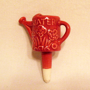 Vintage Collectible Pottery Plant Waterer Shape of Watering Can 1950s Excellent Vintage Condition