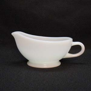 Vintage Anchor Hocking Fire King White Restaurant Ware Sauce/Gravy Boat 1948-67 Excellent Condition