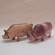 Vintage Cast Iron Pig Piggy Banks 1970s Very Good Condition