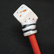 Vintage Carnival Cane Ceramic Dice Handle Early 1900s Good Condition